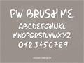 Illustration of font PW Brush Me