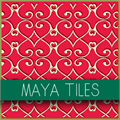 Illustration of font Maya Tiles PROMO