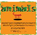 Illustration of font animals