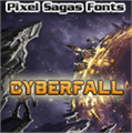 Illustration of font Cyberfall