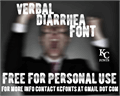 Illustration of font Verbal Diarrhea