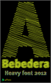 Illustration of font A Bebedera