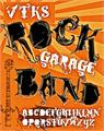 Illustration of font VTKS ROCK GARAGE BAND