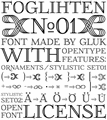 Illustration of font FoglihtenNo01