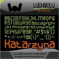 Illustration of font Katarzyna