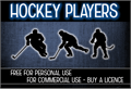 Illustration of font CF Hockey Players