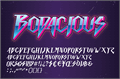 Illustration of font Bodacious