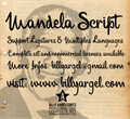 Illustration of font Mandela Script Personal Use