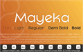 Illustration of font Mayeka Bold Demo
