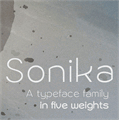 Illustration of font Sonika PERSONAL USE