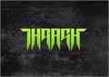 Illustration of font Thrash it