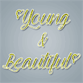 Illustration of font Young & Beautiful