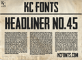 Illustration of font Headliner No. 45