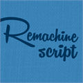Illustration of font Remachine Script Personal Use