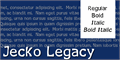 Illustration of font Jecko Legacy