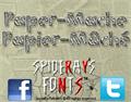 Illustration of font Paper-Mache