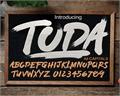 Illustration of font TODA DEMO