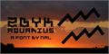 Illustration of font Zdyk Aquarius