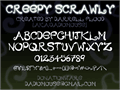 Illustration of font Creepy Scrawly