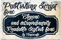 Illustration of font Publishing Script DEMO version