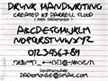 Illustration of font Drunk Handwriting
