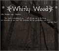 Illustration of font Whirly Wood