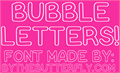 Illustration of font Bubble Letters