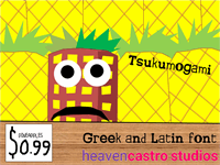 Sample image of Tsukumogami font by heaven castro
