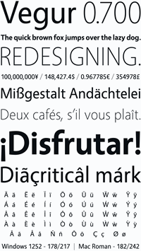 Sample image of Vegur font by arro