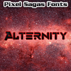 Sample image of Alternity font by Pixel Sagas