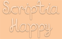 Sample image of Scriptia Happy font by Paulo R