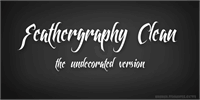 Feathergraphy Clean font by Måns Grebäck