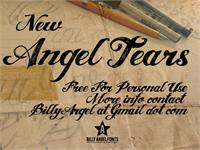 Sample image of ANGEL TEARS font by Billy Argel