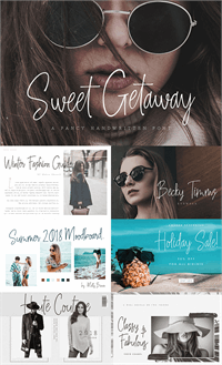 Sample image of Sweet Getaway DEMO font by Konstantine Studio