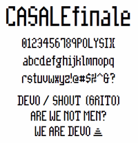 Sample image of CasaleFinale NBP font by total FontGeek DTF, Ltd.