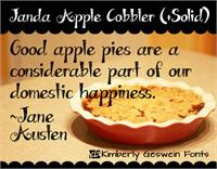 Sample image of Janda Apple Cobbler font by Kimberly Geswein
