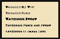 Sample image of Wayzgoose Block font by Art Designs by Sue