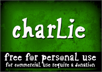 Sample image of CF Charlie font by CloutierFontes