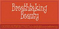Sample image of Breathtaking Beauty DEMO font by pizzadude.dk