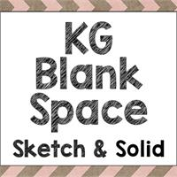 Sample image of KG Blank Space Solid font by Kimberly Geswein