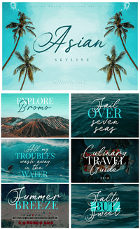 Sample image of Asian Skyline DEMO font by Konstantine Studio