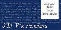Sample image of JDVeronica font by Jecko Development