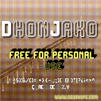 Sample image of DhonJako St font by Southype