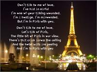 Sample image of Love in Paris font by CutieFont