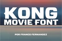 Sample image of Kong font by FZ