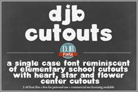 Sample image of DJB Cutouts font by Darcy Baldwin Fonts