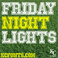 Sample image of Friday Night Lights font by KC Fonts