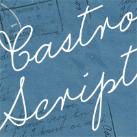 Sample image of Castro Script PERSONAL USE ONLY font by Måns Grebäck