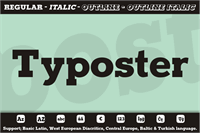 Sample image of Typoster font by studiotypo