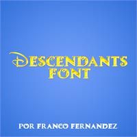 Sample image of Descendants font by FZ